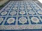 12' X 15' Hand Made French Aubusson Savonnerie Needlepoint Wool Rug Flat Weave