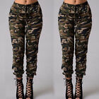 Women Camouflage Pants Camo Casual Cargo Joggers Military Army Harem Trousers US