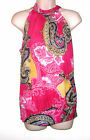 Dots Paisley Multi Colored Sleeveless Pull Over Top With Tie M Bust 36 Lth 25
