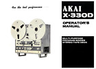 AKAI X-330D REEL TO REEL  Operator's Manual