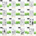 Silicone Clear Quote Stamp Seal Cling Scrapbooking Album Cards DIY Decor 15 Type
