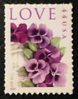 2010 Scott 4450 44 Pansies in a Basket Love Single Stamp Mint NH