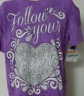 FOLLOW YOUR HEART The Mountain T SHIRT Colorwear TEE Womens L XL 2XL NEW W TAG