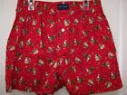 Tommy Hilfiger Men's Red Boxers Button Fly Squirrel & Lights NWT Small