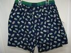 Tommy Hilfiger Men's Blue Boxers Button Fly Fishing Lure NWT Small