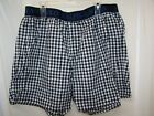Ralph Lauren Polo Men's Black Check Blue Pony Boxers Button Fly NWT Large