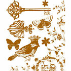 Prima Madeline Collection MIX 2 Clear Acrylic Stamps Bling 25x3 Bird Key 544959