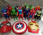 Mixed lot of 12 DC  MARVEL 12 inch HEROS  VILLAINS Action Figures PLUS