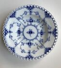 Royal Copenhagen BLUE FLUTED FULL LACE~1081~Rimmed Fruit Bowl~First Quality