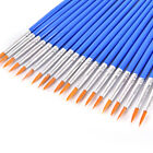 10Pcs Nylon Hair Artist Paint Brush Acrylic Watercolor Round Fine Hand Point VN