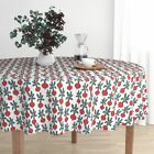 Round Tablecloth Beet Vegan Vegetables Farmers Market Summer Beets Cotton Sateen