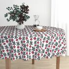 Round Tablecloth Beets Veggies Farmers Market Vegetables Food Cotton Sateen