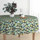 Round Tablecloth Beets Vegetable Harvest Garden Plants Food Cotton Sateen