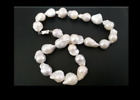 ELEGANT 14-15MM SOUTH SEA BAROQE WHITE PEARL ECKLACE 18INCH 925S