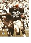 Jim Brown Cleveland Browns Autographed 8x10 with COA and HOF 71 Inscription