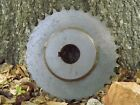 Vintage Industrial Cast Iron Gear Sprocket Wheel Steampunk Lamp Base 8