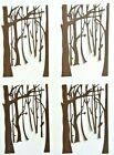 4 BrownTrees Trunks Branches Background Die Cut Paper Punch Embellished Craft