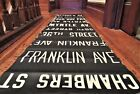 Vintage New York City BMT Subway Car Side Route Roll Sign