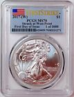2017 W 1 Silver Eagle PCGS MS70 First Day of Issue 1 of 1000