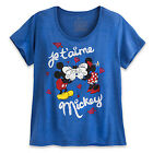 NWT Disney Store Women Minnie and Mickey Mouse T Shirt Tee Top M XL 2XL