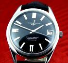 Excellent Mens ULYSSE NARIN 18000BPH Chronometer  Steel Black Dial Automatic