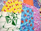 Vintage 1930's 40's Crazy Quilt Top with feed sack fabrics pastel floral