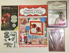 Crafters Companion Inspiration Magazine Flower Cutting Dies Matching Stamps DVD