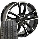 18x8 Rims  Tire Fit Audi A Series Style Black Machd Wheels w Ironman Tires