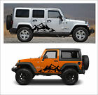 0185 -2pcs Mountain Fender Side Decal Graphic Jeep Wrangler Rubicon Sahara N1