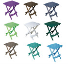 Folding Plastic Outdoor Side Table Patio Pool Hold Sunglasses Fishing Beach Camp