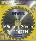 165mm x 30mm  30 Tooth Irwin Construction Circular Saw Blade 165 x 30  30T