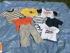 12 mths boys t-shrts and pants - pre-owned