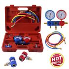 AC MANIFOLD GAUGE TOOL SET A/C AIR CONDITIONING DIAGNOSTIC KIT REFRIGERATION SY