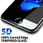 For Apple iPhone 7 8 7 8+ 5D Full Cover Curved Tempered Glass Screen Protector