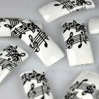 15HE 50 Black White Music Note rench ase Nai Tips NEW