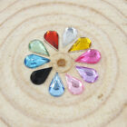 Free Shipping 288pcs/Lot 6*10mm Water-Drop Acrylic Rhinestone, Flat Back Nail Ar