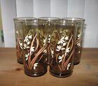Lot of 5 Libbey Juice Iced Tea White Flower Drinking Glasses