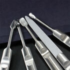 1 PC 5 Style Silver Nail Srt Manicure Stainless Steel Cuticle Pusher Nail Tool