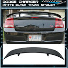 Fits 06-10 Dodge Charger Rear ABS Trunk Spoiler Primer Matte Black Aero
