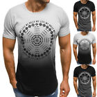 US Mens Short Sleeve T Shirt Casual Blouse Tops Clothes Bodybuilding Muscle Tees
