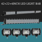 52INCH 1200W LED Light Bar Combo+12 72W+4 18W Fit Jeep Wrangler JK YJ TJ CJ LJ