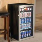 Beverage Refrigerator Cooler Compact Mini Bar Fridge Beer Soda Pop Glass Door