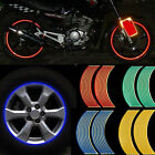 16 Strips Lots Reflective Motorcycle Car Rim Stripe Wheel Decal Tape Sticker New