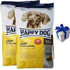 Happy Dog 2 x 125 kg Supreme Light Calorie Control Hundefutter Diät  Geschenk