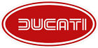 3301 1 6 Ducati Oval Racing Classic Vintage Decal Sticker LAMINATED Red
