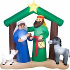 7 Holy Family Nativity Scene Airblown Inflatable Outdoor Christmas Decor