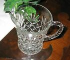 Vtg Anchor Hocking Glass Prescut Clear pineapple fan creamer syrup pitcher EAPC