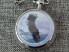 Al Agnew Mens Pocket Watch Eagle on Case and Watch Face Silver Tone 12