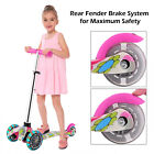 Kids Scooter Deluxe for Age 3 12 Adjustable Kick Scooters Girls Boys 3LED Wheels