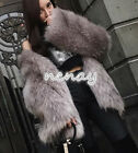 Women Winter Warm Fur Coat Hooded Jacket Mid Long Outdoor Jacoet Long Sleeve 3XL